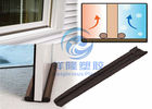 Fixing Bottom Door Draft Stopper , Brown Color Foam Twin Draft Guard Energy Saving